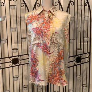 Cabo 100%silk button blouse